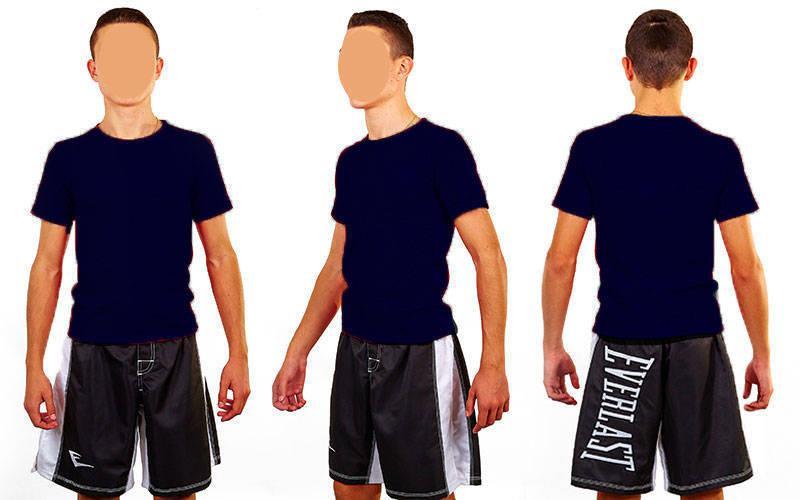 1be57e8a317fe Футболка спортивная мужская однотонная без рисунков CO-4490M-4 темно-синий  (хлопок
