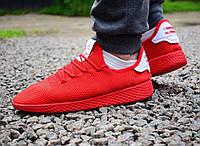 Мужские кроссовки Adidas Pharrell Wiliams Tennis Hu красные 0049