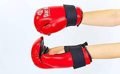 Перчатки для тхэквондо ITF DAEDO MA-5475-R (PU, р-р S-XL, красный)