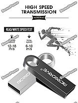 USB Flash Micro Drive  на 32 гб. Флеш накопитель темно серебряного цвета. Флешка., фото 2