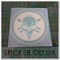 "Наклейка на мото ""Yamaha skull, ямаха череп"""