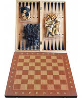 Набор 3в1 Нарды,Шахматы,Шашки W7721