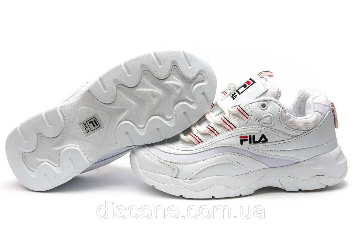 Кроссовки женские 13931 ► Fila, белые ✅Скидка 36% ► [ 41 ]