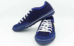 Обувь спортивная мужская кожаная Ferrari OB-3398-B-MIX (р-р 40-44) (верх-кожа, PVC, под-RB, т.синий)