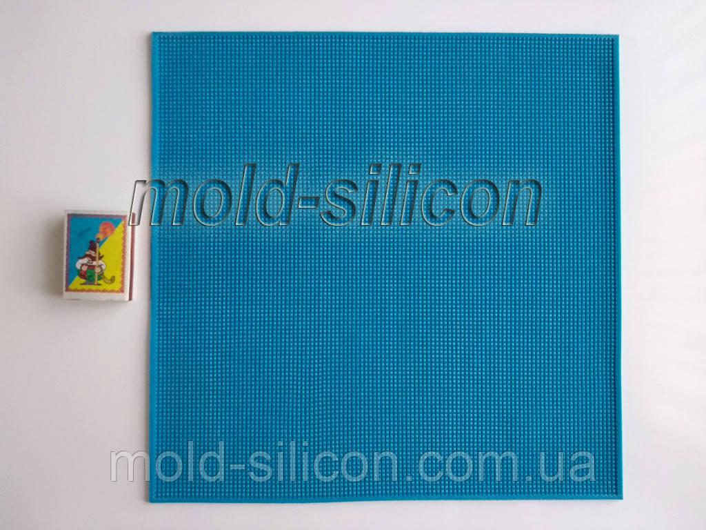 """Силиконовый коврик """"Сетка квадратная"""" для вышивки"""