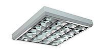 Растровые светильники PRB/S с зеркальной параболической решеткой