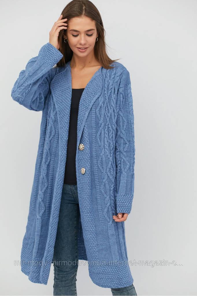Кардиган женский стильный шерстяной размеры с 50 по 58 (modnyst)