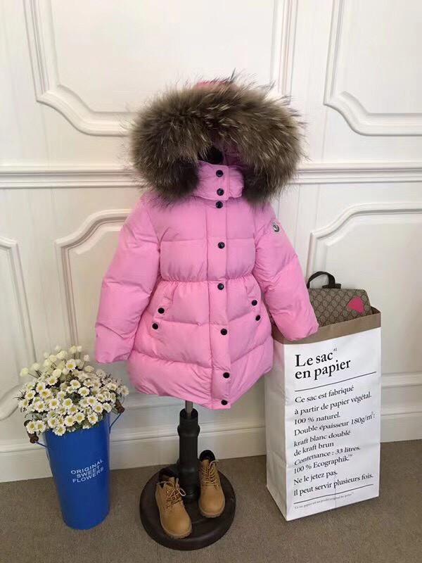 Куртка на девочку Sabbi  удлиненная на пуху розовая
