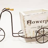 Кашпо для цветов и декора велосипед