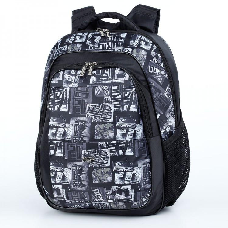66673a6feb30 Школьный рюкзак с ортопедической спинкой для мальчика Dolly 526 серо-черный  - Styleopt.com