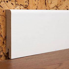 Плінтус білий МДФ шпонований 12*80*2000мм.
