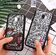 Силиконовый 3D чехол для телефону Samsung Galaxy J7 J730 2017p. силикон на самсунг гелекси кружево