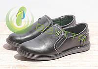 Туфли кожаные на мальчика Jordan 3713 син 33,34 размеры, фото 1