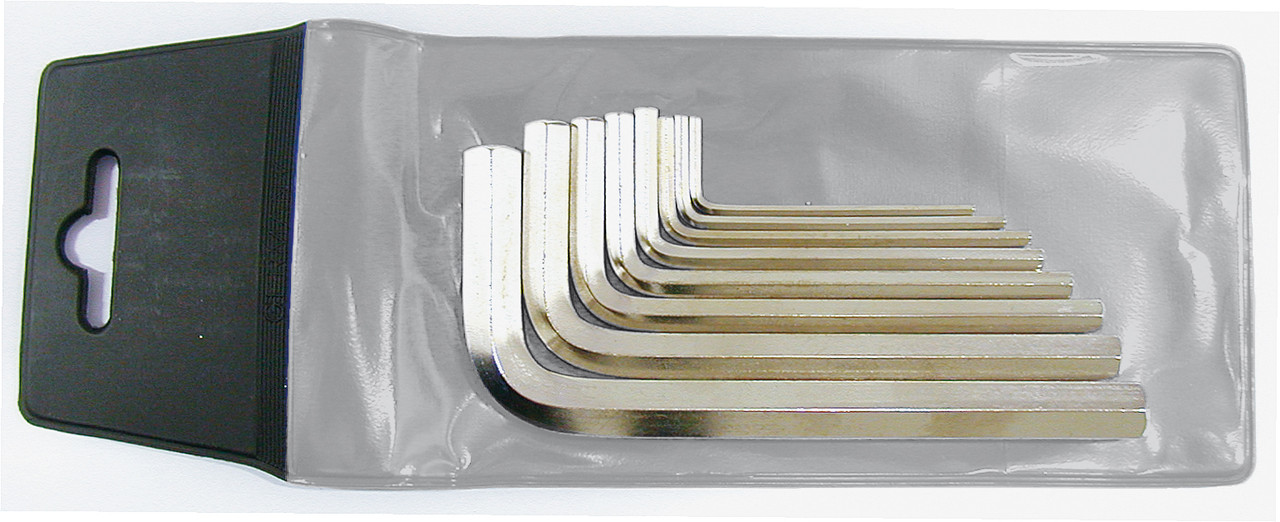 Набір ключів Г-подібних шестигранних 2-10 DIN ISO 2936 8-пред. WGB Німеччина
