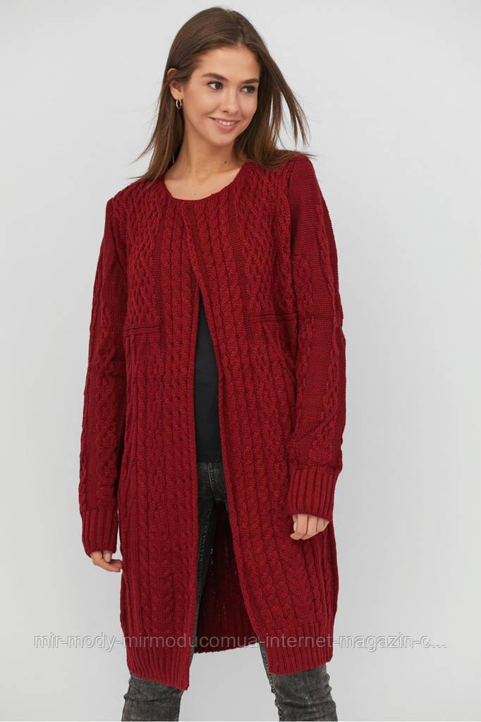 Кардиган женский вязаный стильный шерстяной размеры с 46 по 56 (modnyst)