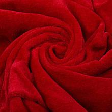 Ткань трикотажная Велюр, Х/Б, 95% на 5%. Пенье, цвет - Красный, в наличии, купить в Украине