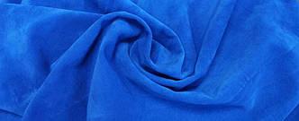 Ткань трикотажная Велюр, Х/Б, 95% на 5%. Пенье, цвет - Синий, в наличии, купить в Украине, фото 2