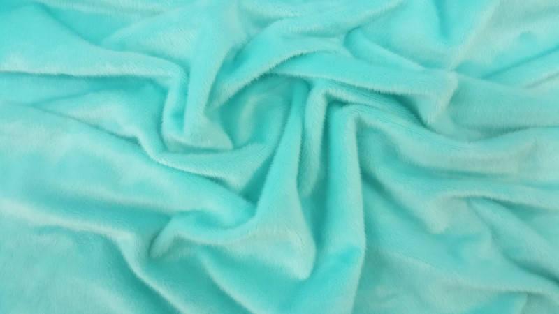 Ткань трикотажная Велюр, Х/Б, 95% на 5%. Пенье, цвет - Мятный, в наличии, купить в Украине, фото 2