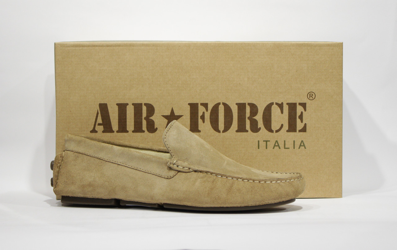 Шикарные замшевые мокасины Air Force, Италия-Оригинал