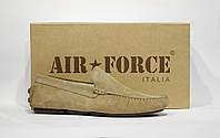 Шикарные замшевые мокасины Air Force, Италия-Оригинал, фото 1