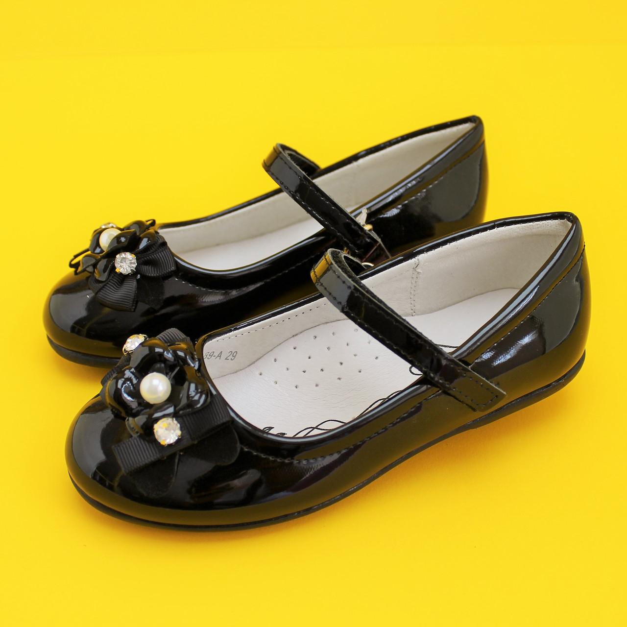 Черные лаковые туфли девочки Школьница Tom.m размер 27,28