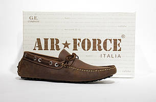 Шикарные кожаные мокасины Air Force, Италия-Оригинал