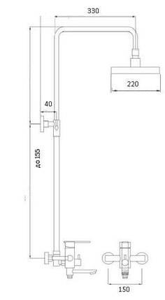 Душевая система GLOBUS LUX STYLE VAN-DS0026, фото 2