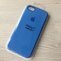 Силиконовый голубой чехол для iphone 7/8 в упаковке
