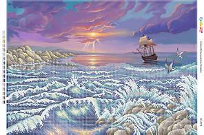 БС 2076 . Схема для вишивки бісером Морський пейзаж
