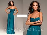 """Длинное Платье из трикотажного масла """" Трансформер"""" в пол Размеры 40-54, фото 1"""