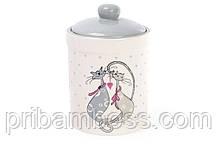 Банка керамическая 1.1л с объемным рисунком Влюбленные коты