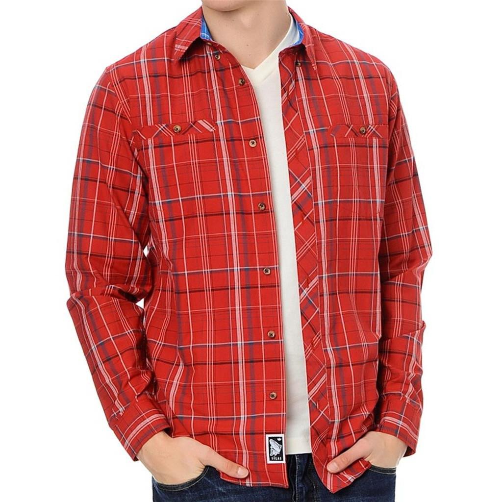 Рубашка мужская adidas Silas LS Z28922 (бордовая, хлопок, на выпуск, длинный рукав, пуговицы, логотип адидас)