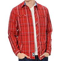 Рубашка мужская adidas Silas LS Z28922 (бордовая, хлопок, на выпуск, длинный рукав, пуговицы, логотип адидас), фото 1