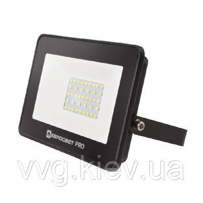 Прожектор светодиодный ЕВРОСВЕТ 30Вт 6400K EV-30-504 PRO 2700Лм (000040174)