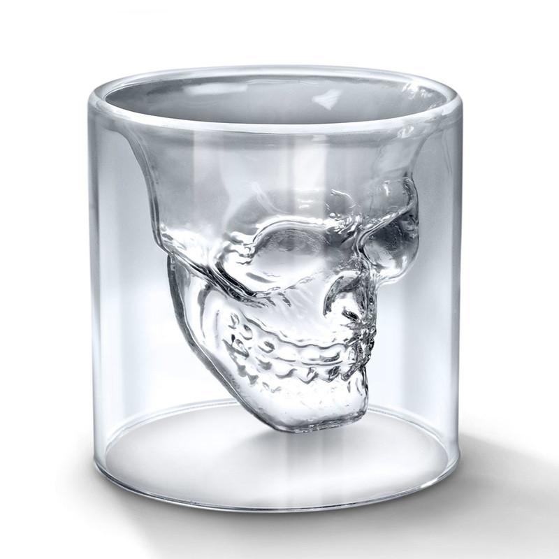 🔝 Необычный стакан с 3D черепом Doomed (1 шт.), рюмка Череп, с доставкой по Киеву и Украине | 🎁%🚚