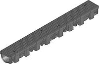 Универсальная  система линейного поверхностного водоотвода - лоток (119 Х 89 Х 1000), PE-PP (ЧЕРНЫЙ)