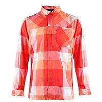 Рубашка мужская adidas ED Check Z19632 (красная, хлопок, на выпуск, длинный рукав, заклепки, логотип адидас), фото 1