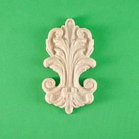 Код ДВ16. Деревянный резной декор для мебели. Декор вертикальный, фото 1