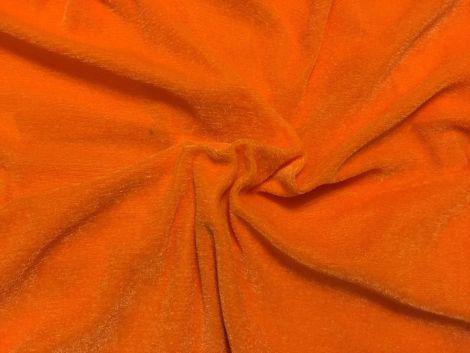 Ткань трикотажная Велюр, Х/Б, 95% на 5%. Пенье, цвет - Оранжевый, в наличии, купить в Украине