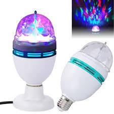 Диско лампа + переходник с классическим резбовым цоколем LASER LW MQ01