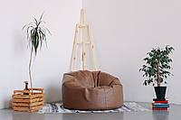 Коричневое большое кресло мешок из кож зама Зевс, фото 1