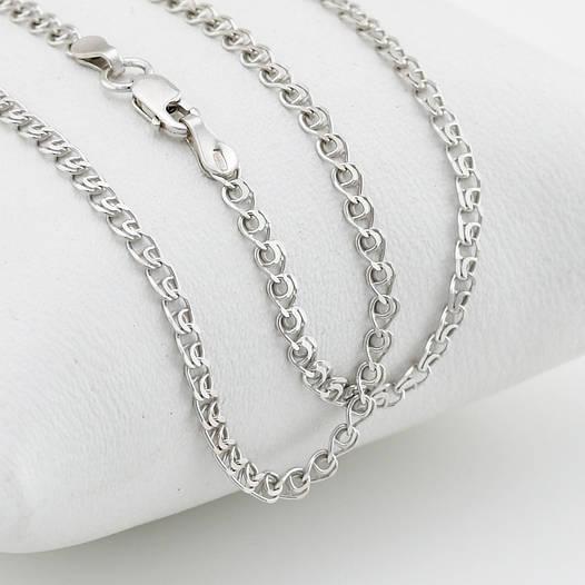 """Серебряная цепочка """"Love"""", ширина 2 мм, вес 3.78 г, длина 50 см"""