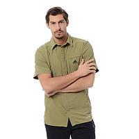 Рубашка мужская adidas Ht Wick Ss D82312 (хаки, нейлон, на выпуск, короткий рукав, заклепки, логотип адидас), фото 1