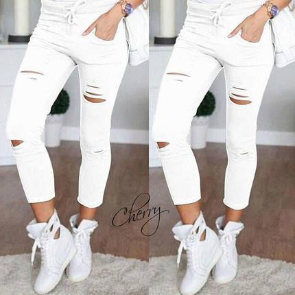 Летние брюки с прорезями Хаки, фото 2