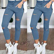 Летние брюки с прорезями Хаки, фото 3