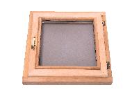Окно для бани Sauna wood с открыванием стеклопакет