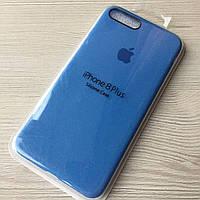Силиконовый голубой чехол для iphone 7+/8+ в упаковке