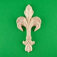 Код ДВ10. Деревянный резной декор для мебели. Декор вертикальный, фото 1