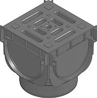 Универсальная система линейного поверхностного водоотвода-угловой соединительный  элемент (137 Х 125 Х 137)
