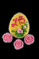 Декор кондитерський Добрик Набір Пасхальний Яйце ХВ з квітами 28 шт./ящ.
